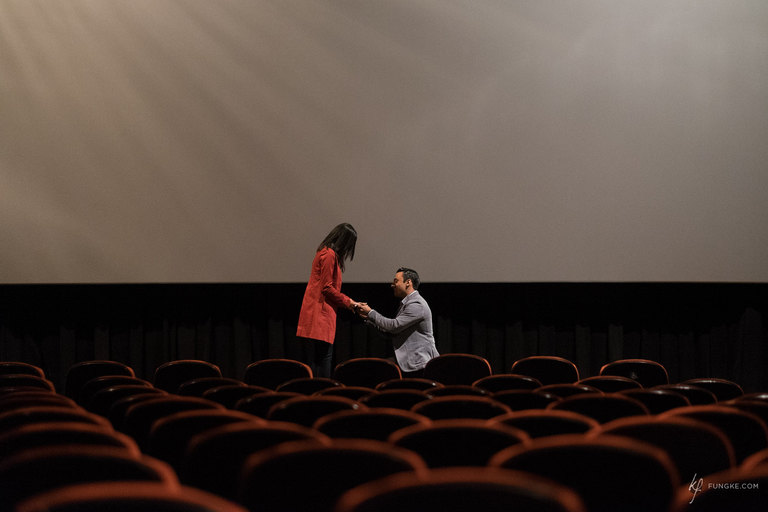 Toronto Proposal at the Fox by Toronto Photographer Kevin Fung of Fungke Images